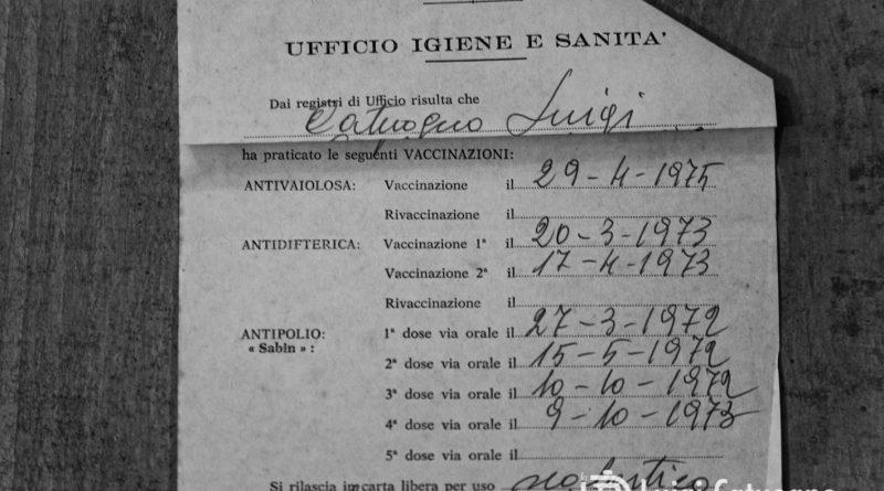 Foto certificato vaccinale